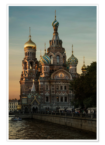 Premium poster Cathedral of the Savior in Sankt Petersburg