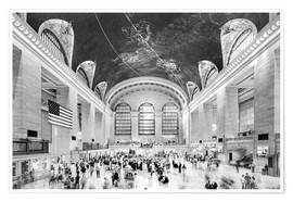 Poster  Grand Central Terminal, New York (monochrome) - Sascha Kilmer