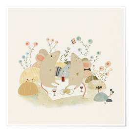 Premium poster Romantic mice