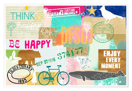 Premium poster Enjoy every Moment Collage