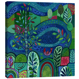 Canvas  Bird by the Pond - Janet Broxon