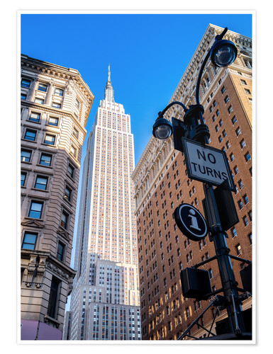 Premium poster New York City Sky High, Empire State Building