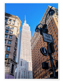 Premium poster  New York City Sky High, Empire State Building - Sascha Kilmer