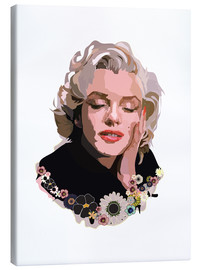 Canvas print  Marilyn Monroe With Flowers - Anna McKay