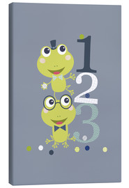 Canvas print  Frogs playing with numbers - Jaysanstudio