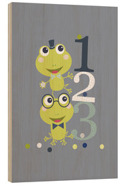Wood  Frogs playing with numbers - Jaysanstudio