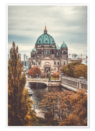 Premium poster Berlin Cathedral in autumn
