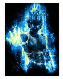 Premium poster  God Prince of Saiyans - Barrett Biggers