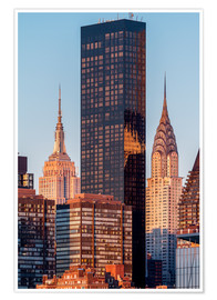 Premium poster Empire State und Chrysler Building