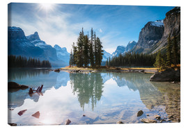 Canvas  Iconic Spirit Island, Maligne Lake, Canada - Matteo Colombo