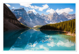 Premium poster  Beautiful Moraine lake in autumn, Canada - Matteo Colombo
