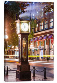 Canvas  Steam clock in Gastown, Vancouver, Canada - Matteo Colombo