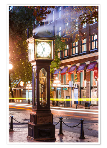 Premium poster Steam clock in Gastown, Vancouver, Canada