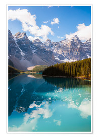 Premium poster Lake Moraine in the Canadian Rockies