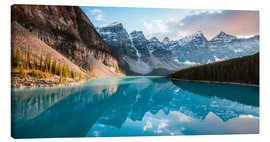 Canvas  Moraine lake panoramic, Banff, Canada - Matteo Colombo