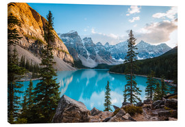 Canvas print  Sunset over Moraine lake, Canada - Matteo Colombo