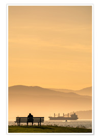 Premium poster  Evening mood in Vancouver - Andreas Kossmann