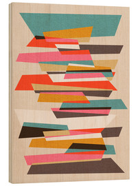 Wood print  FRAGMENTS VII 01 - Susana Paz