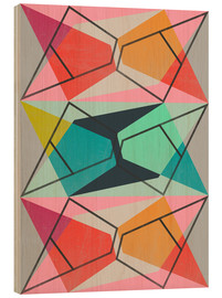 Wood print  COLORBLOCK III 01 - Susana Paz