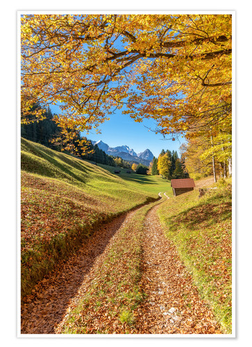 Premium poster Golden autumn in Bavaria