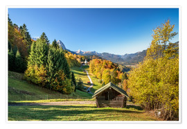Premium poster Autumn in Upper Bavaria