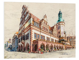 Foam board print  Leipzig Old Town Hall - Peter Roder
