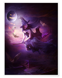 Premium poster  Training for Halloween - Elena Dudina