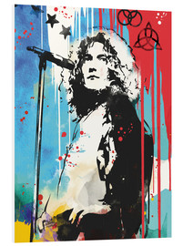 Foam board print  Robert Plant, Led Zeppelin - 2ToastDesign