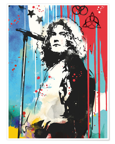 Robert Plant Led Zeppelin Art Print Posters And Prints