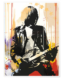 Poster  The ramones Johnny Ramone art print - 2ToastDesign