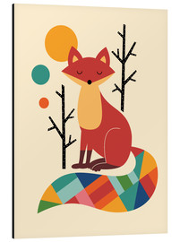 Alu-Dibond  Rainbow Fox - Andy Westface