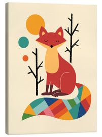 Canvas print  Rainbow Fox - Andy Westface