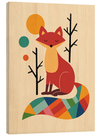 Wood print  Rainbow Fox - Andy Westface
