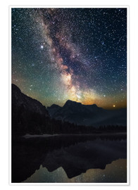 Premium poster  Milky Way over the mountains - Matthias Köstler
