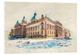 Acrylic print  Leipzig Federal Administrative Court - Peter Roder