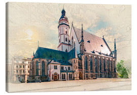 Canvas print  Leipzig Thomaskirche - Peter Roder