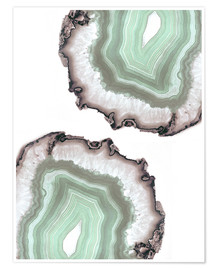 Premium poster Light water agate