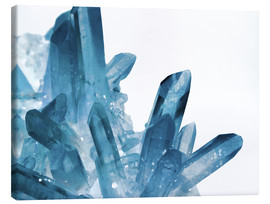 Canvas  magic blue crystals - Emanuela Carratoni