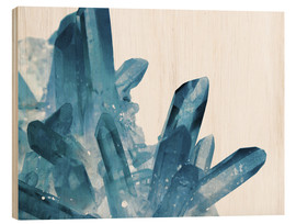 Wood print  Crystal in blue - Emanuela Carratoni