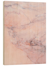 Wood print  Blush marble - Emanuela Carratoni