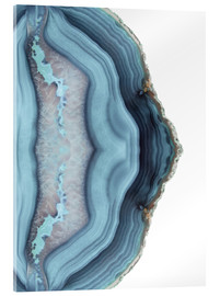Acrylic print  Light blue agate - Emanuela Carratoni