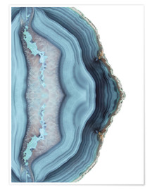 Premium poster Light blue agate