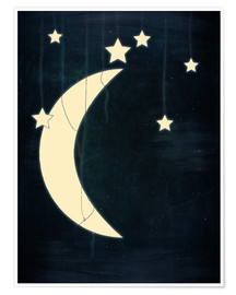 Poster moon and stars