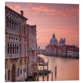 Foam board print  Venice and the grand Canal at sunrise - Alex Saberi