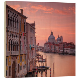 Wood print  Venice and the grand Canal at sunrise - Alex Saberi