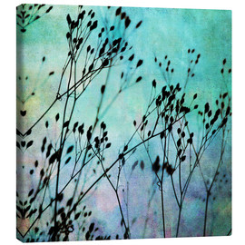 Canvas print  Black Flowers - Mareike Böhmer Photography