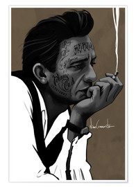 Poster  johnny cash - Nino Cammarata