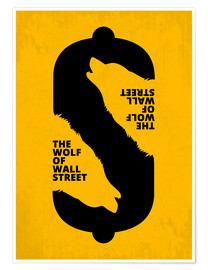 Premium poster The Wolf of Wall Street - Minimal Movie Art