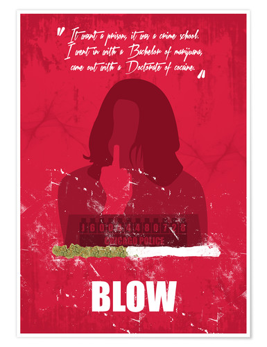 Premium poster Blow - Minimal Alternative Movie Fanart
