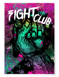 Premium poster Fight Club - Minimal alternative movie fanart #1